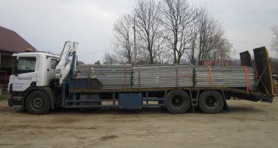 usługi sprzętem budowlanym samochód z HDS Scania