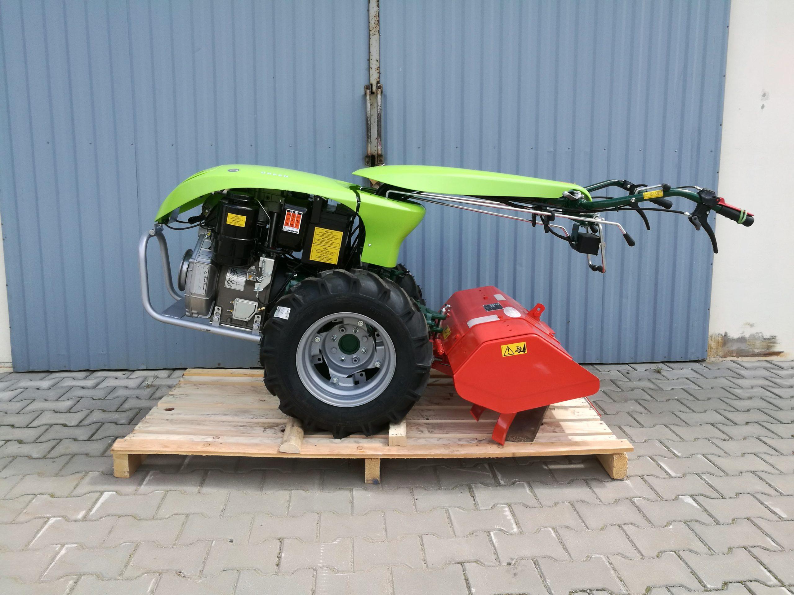 Ciągnik jednoosiowy Labin Special Green z zamiatarką (silnik Lombardini)